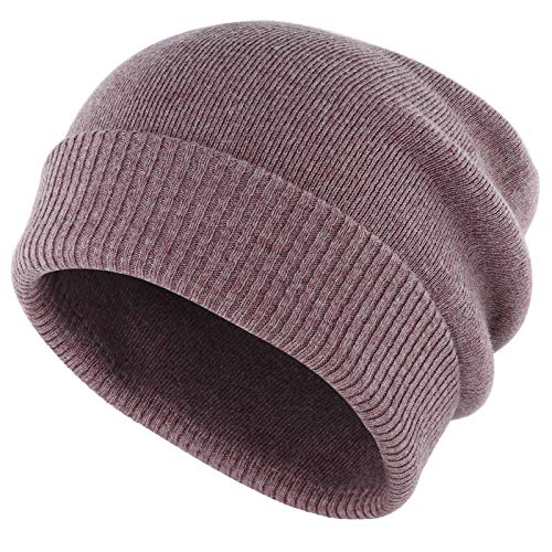 Gisdanchz Wollmütze Damen Wintermütze Damenmütze Winter Hats for Women Wollmütze Damen Beanie Fisherman Männermützen Winter Mütze Wolle Fischermütze Fleece Wintermütze Long Slouch Beanie Lila