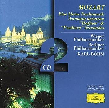 """Mozart, W.A.: Eine kleine Nachtmusik; Serenatas notturna,  """"Haffner"""" & """"Posthorn"""""""