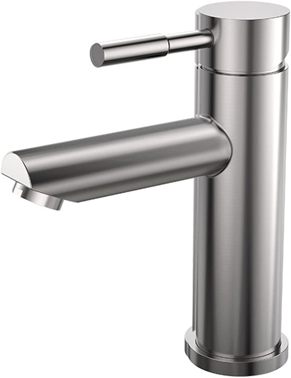 North cool Single Lever Stainless Steel Basin Faucet Hot And Cold Water Basin Faucet Kitchen Bathroom Sink On The Basin