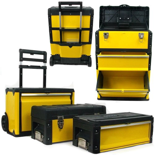 Stalwart Oversized Portable Tool Chest Three Tool boxes in One