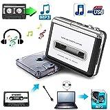 USB Cassette-to-MP3 Converter Capture, SolidPin Audio Super USB Portable Cassette/Tape to PC MP3 Switcher Converter with Headphone