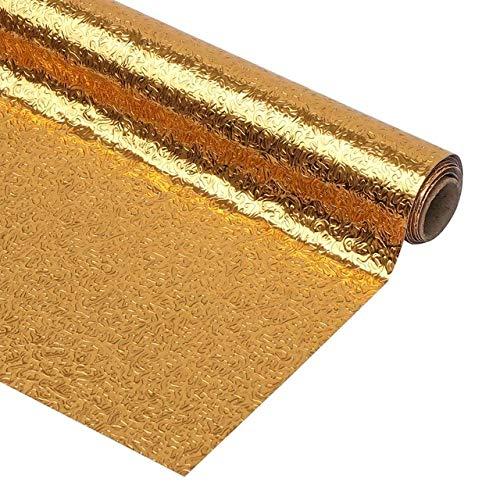Nieuwe Eenvoudige 100CM zelfklevende DIY Wallpaper Zilver Gouden Meubelkachel Olie-Resistant Waterdichte Aluminium folie Keuken Stickers 60cmx100CM