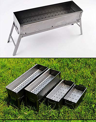 WPYST Foldable Barbecue Charcoal Grills Stainless Steel Portable Kabab Grill on Tabletop with Free Tools Accessories for Camping Cooking Picnics Patio BBQ Outdoor Party (1)
