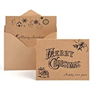 KUUQA 36 Pieces Merry Christmas Cards Greeting Notes Cards with 36 Envelopes and 36 Stickers
