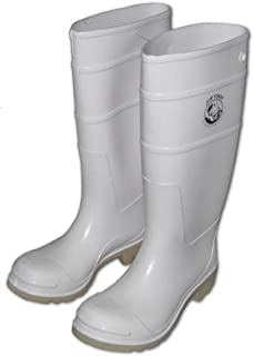 white boots for Halloween and fishing/rain boots(White), 8