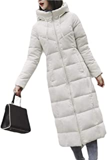 Womens Winter Warm Down Coat Hooded Thick Jacket Long Outwear Overcoat