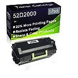 Cartucho de tóner negro compatible 52D2000 (alta capacidad), compatible con impresoras Lexmark MS810de MS810dn MS810dtn MS810n MS811dn MS811dtn MS811n