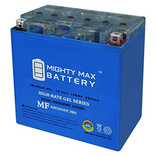 Mighty Max Battery YB16CL-B Gel 12V 19AH Battery Replaces Yamaha 1800 VXS, VXR 2013-2018 Brand Product