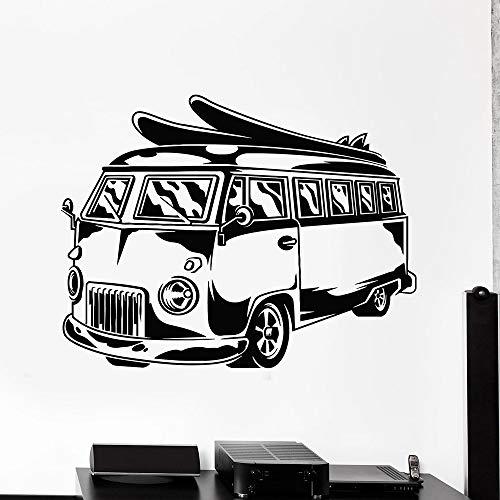 mgrlhm Hippie Bus Vinyl Wandtattoo für Büro Handy Auto Surfen Strandurlaub Wandtattoo Dekoration Kindergarten Kinderzimmer Kunst 32x42cm