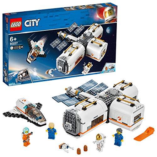 LEGO 60227 City Mond Raumstation, Raumschiff-Spielzeug für Kinder inspiriert von der NASA, Expedition zum Mars Serie