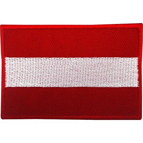 Österreichische Flagge, Aufnäher zum Aufbügeln oder Aufnähen, bestickte Applikation