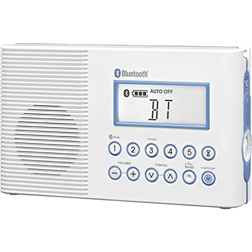Sangean H202 Portable AM/FM/Weather Alert/ Bluetooth Digital Tuning Waterproof Shower Radio