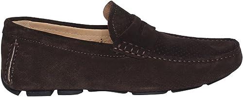 BRECOS chaussures Mocassino hommes 7876 CASMIR Mor PE18