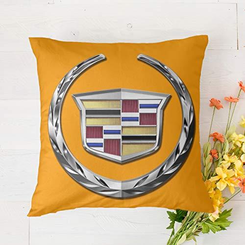 Fundas de cojín Cadillac de 45 x 45 cm, fundas de almohada decorativas de lino y algodón, fundas de almohada creativas de 45 x 45 cm, para decoración del hogar, para sala de estar, jardín, sofá