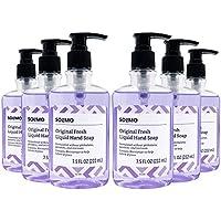 6-Pack Amazon Brand Solimo Original Liquid Hand Soaps (7.5oz each, Original Fresh)