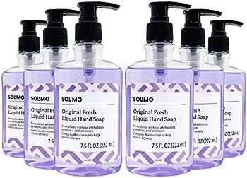 6-Pack Amazon Brand Solimo Original Liquid Hand Soaps