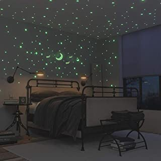 Glow in The Dark Stars and Moon, Ztent 221 Pcs Glowing Ceiling Stars and Wall Decal Stickers, Perfect for Kids Bedding Room or Birthday Gift