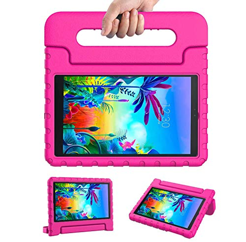 JSUSOU for LG gpad 5 10.1 Case for Kids Friendly   Convertible Handle Stand Light-Weight EVA Soft Foam Durable Kidsproof Case Cover for LG G Pad 5 10.1 inch FHD 2019 (LM-T600 LMT605)   Rosered