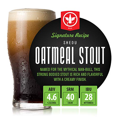 BrewDemon 1 Gal. Shedu Oatmeal Stout Beer Recipe Kit - Makes a Wicked-Good 4.6% ABV Batch of Craft Brewed Beer