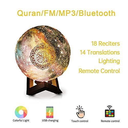 Swthlge New Colourful LED Touch Quran Lautsprecher 8 GB FM MP3 Lautsprecher Nachtlicht Hajj umrah