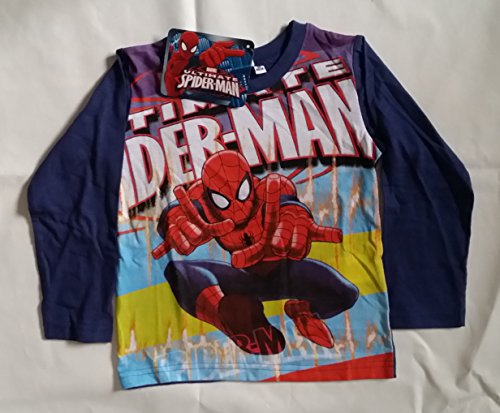 T-shirt manche longue disney spiderman en coton 8 ans