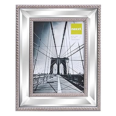 Kiera Grace Sutton Mirrored Picture Frame, 5 by 7 Inch, Champagne