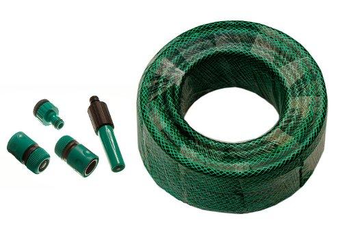 Groene tuinslang pijp versterkte lengte 60M Bore 12Mm met fittingen