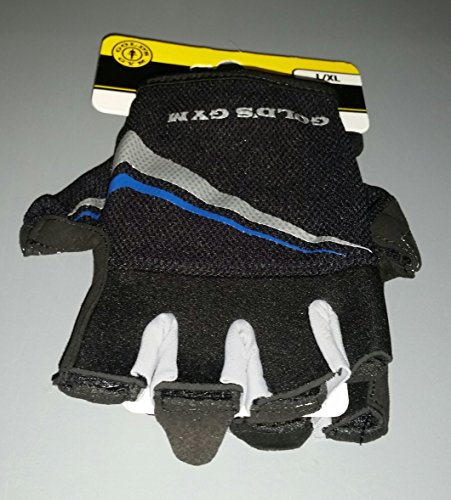 Gold's Gym Men's Tacky Half-finger Weight Lifting Gloves (L/XL)