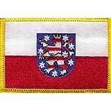 Everflag Patch zum Aufbügeln oder Aufnähen : Thüringen - klein