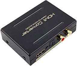 Usee HDMI Audio Extractor 1080P HDMI to HDMI + Optical Toslink(SPDIF) + 2RCA(L/R) Stereo Analog Outputs Video Audio Splitter Converter for PS3 PS4 DVD Player Xbox One Sky HD Box