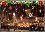 Natale Vetrofanie,,Vetrofanie PVC, Fai da Te Finestra Sticke, Neve Natale Aggrappa,Fiocchi di Neve Invernali,Adesivi Natalizi,Porta Finestra Fai-da-Te Decorazioni,Vetrofanie Fiocchi di Neve (92017)