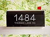 Personalized Mailbox Sticker Decal, Custom Street Name and Number, Gloss Vinyl