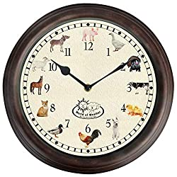 Fallen Fruits Esschert Design World of Weather Farmyard Animal Indoor Wall Clock 12