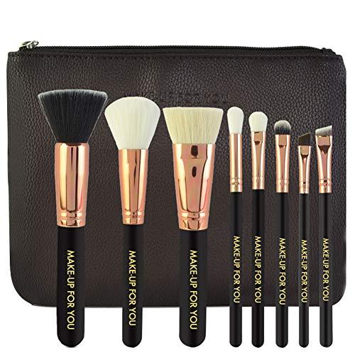 Foern Pinceaux Maquillage 8pcs Professionnel Set/Kit Blush Powder Eyeshadow Contour Highlighting Brush