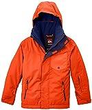 Quiksilver Jungen Snowboard Jacke Mission Y Jacket, Mandarin Red, XL