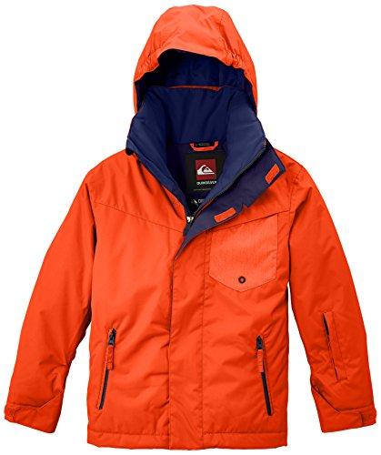 Quiksilver Jungen Snowboard Jacke Mission Y Jacket, Mandarin Red, XS