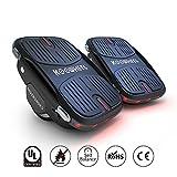 KOOWHEEL Scooter Skateboard, Auto-équilibrage Patin à roulettes 3,5' Électrique Scooter Vitesse maximale 12 km/h HoverShoes de Transport Stunt - Noir