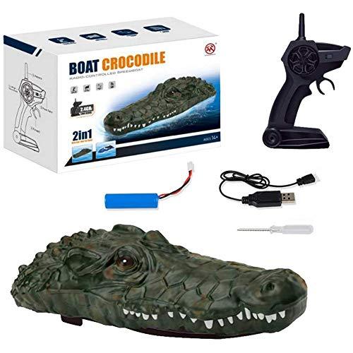Gereton RC Boot schwimmendes elektrisches Krokodilspielzeug Wasserschiff Badespielzeug für Teiche Schwimmbäder