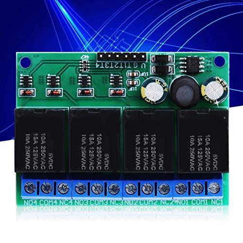 Mxzzand Tablero de interruptores electrónicos de gatillo Tablero de relés de Bloqueo automático Duradero para diodos emisores de luz