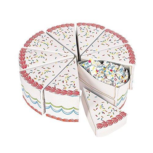 Birthday Cake Slice Treat Boxes (10PC)