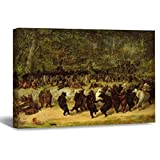 William Holbrook Beard The Bear Dance Canvas Picture Paintin