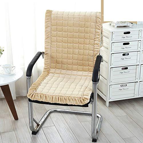 Kussen voor dikke stoel uit kasjmier, kussen van pluche, herfst-winter, kantelbare stoel met rugkussen, kussen voor bureaustoel, kleur antislip, voor zitting, D 50 x 145 cm (20x57