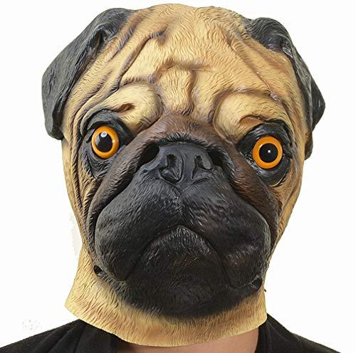 PARTY STORY Pug Dog Mask Halloween Cosplay Costume...