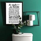 Adzif.biz Le sticker de decoration Poster Papier Les Règles des Toilettes - Dimensions 30 x 40 cm - Papier Brillant Non Adhésif