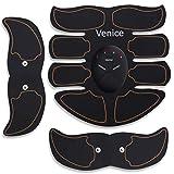 Venice Electroestimulador para abdominales, estimulador muscular ABS Total Cinturón profesional para abdominales, pectorales, brazos, glúteos, piernas, vientre, kit de gimnasio en casa multifunción
