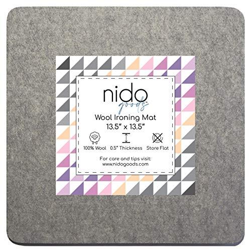 13.5インチ x 13.5インチ ウールアイロンマット - 本物のニュージーランドウール100%プレスパッド、キルティングなどに最適。