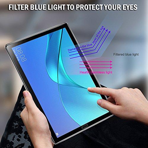 ELTD Schutzfolie für Huawei MediaPad M5 10.8,Premium 9H Härte 2.5D Runde Kante Anti-Fingerprint gehärtetem Glas Film Vollschutzfolie für Huawei MediaPad M5 10.8 Pro/M5 10.8 Zoll 2018 [Schwarz] - 3