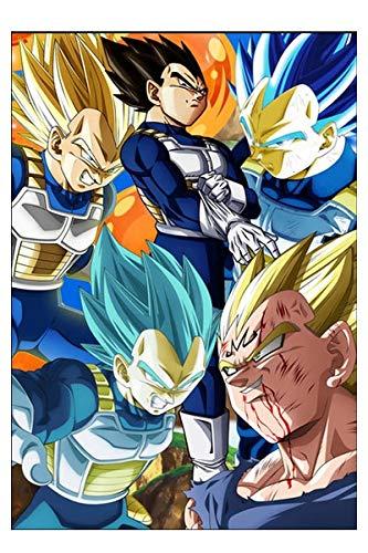 GUUTOP Dragon Ball Anime Manga Arte de la Pared Pintura de Tela Decoración Decoración del hogar 50x70cm Sin Marco