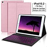 iPad 10.2 7th / 8th Generation Keyboard Case, Detachable Wireless Bluetooth, 7 Colors