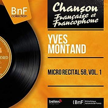 Micro récital 58, vol. 1 (feat. Bob Castella et son orchestre) [Live, Mono Version]
